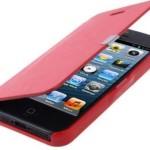 casing-iphone-5-flip-cover merah